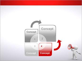 Homem com Altifalante Modelos de apresentações PowerPoint - Slide 5