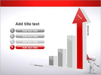 Homem com Altifalante Modelos de apresentações PowerPoint - Slide 6
