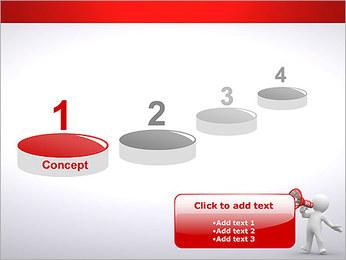 Homem com Altifalante Modelos de apresentações PowerPoint - Slide 7