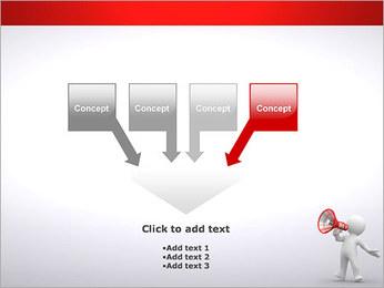 Homem com Altifalante Modelos de apresentações PowerPoint - Slide 8