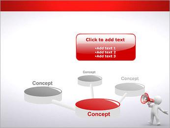 Homem com Altifalante Modelos de apresentações PowerPoint - Slide 9