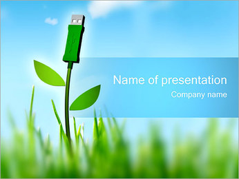 USB Plant PowerPoint Template