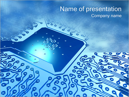 circuit board powerpoint template & backgrounds id 0000001207, Modern powerpoint