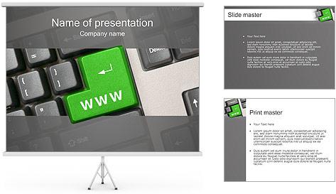 Enter WWW PowerPoint Template