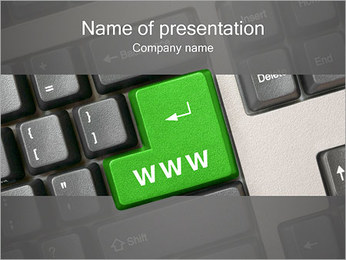 Enter WWW PowerPoint Template - Slide 1