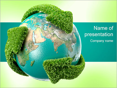 Recycling Earth PowerPoint Template