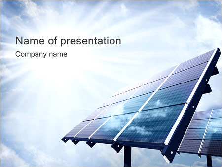 Green tech powerpoint templates backgrounds google slides themes solar panels powerpoint template toneelgroepblik Gallery