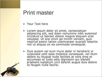 Weapon and Mask PowerPoint Template - Slide 24