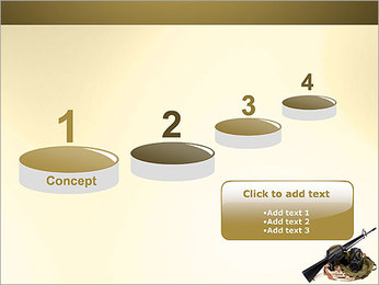 Weapon and Mask PowerPoint Template - Slide 7