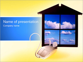 Mouse and Window PowerPoint Template