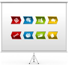 Graphic Lists and Buttons PPT Diagrams & Chart