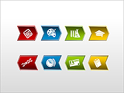 Graphic Lists and Buttons PPT Diagrams & Charts