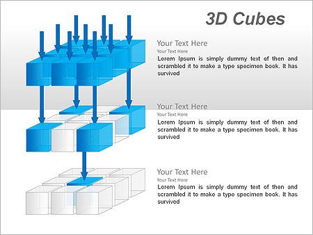 3D Cubes Схемы и диаграммы для PowerPoint - Слайд 14