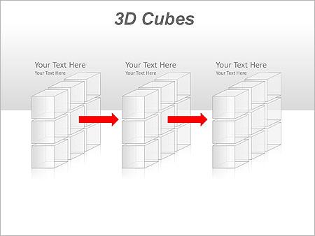3D Cubes Схемы и диаграммы для PowerPoint - Слайд 15