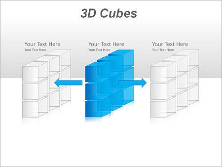 3D Cubes Схемы и диаграммы для PowerPoint - Слайд 18