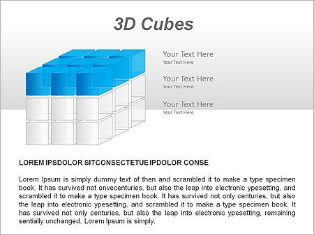 3D Cubes Схемы и диаграммы для PowerPoint - Слайд 2