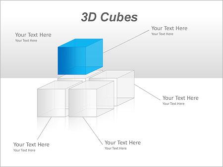 3D Cubes Схемы и диаграммы для PowerPoint - Слайд 26