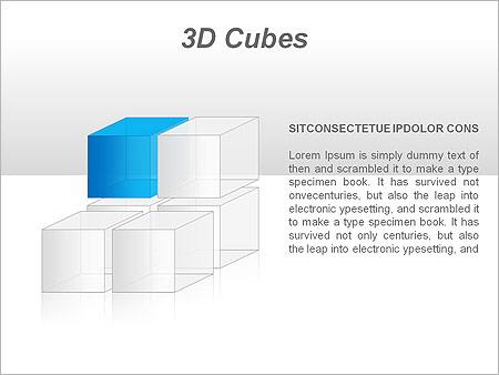 3D Cubes Схемы и диаграммы для PowerPoint - Слайд 27