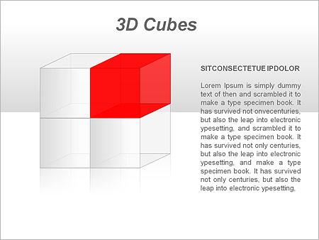 3D Cubes Схемы и диаграммы для PowerPoint - Слайд 30