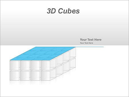 3D Cubes Схемы и диаграммы для PowerPoint - Слайд 34