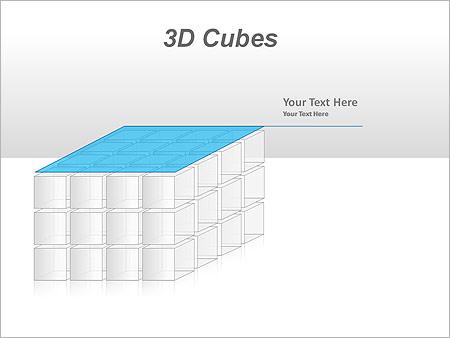 3D Cubes Схемы и диаграммы для PowerPoint - Слайд 35