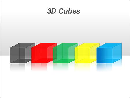 3D Cubes Схемы и диаграммы для PowerPoint - Слайд 41