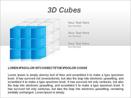 3D Cubes Схемы и диаграммы для PowerPoint - Слайд 5