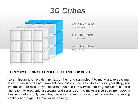 3D Cubes Схемы и диаграммы для PowerPoint - Слайд 7