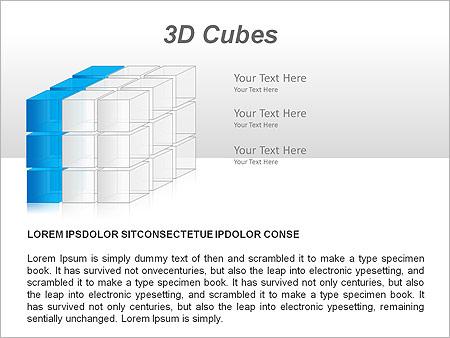 3D Cubes Схемы и диаграммы для PowerPoint - Слайд 8