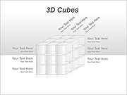 3D Cubes PPT Diagrams & Chart