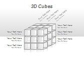 3D Cubes Схемы и диаграммы для PowerPoint - Слайд 1