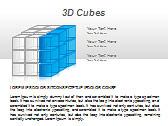 3D Cubes Схемы и диаграммы для PowerPoint - Слайд 10