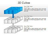 3D Cubes Схемы и диаграммы для PowerPoint - Слайд 13