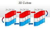 3D Cubes Схемы и диаграммы для PowerPoint - Слайд 16