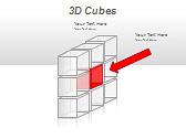 3D Cubes Схемы и диаграммы для PowerPoint - Слайд 19