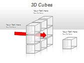3D Cubes Схемы и диаграммы для PowerPoint - Слайд 20