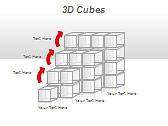 3D Cubes Схемы и диаграммы для PowerPoint - Слайд 21