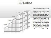 3D Cubes Схемы и диаграммы для PowerPoint - Слайд 22