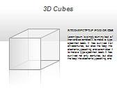 3D Cubes Схемы и диаграммы для PowerPoint - Слайд 25