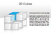 3D Cubes Схемы и диаграммы для PowerPoint - Слайд 28