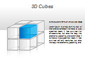 3D Cubes Схемы и диаграммы для PowerPoint - Слайд 29