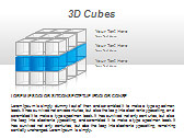 3D Cubes Схемы и диаграммы для PowerPoint - Слайд 3