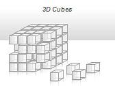 3D Cubes Схемы и диаграммы для PowerPoint - Слайд 37