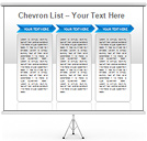 Chevron Lists PPT Diagrams & Chart