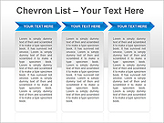 Chevron Lists PPT Diagrams & Charts