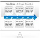 タイムライン PowerPointのための図式