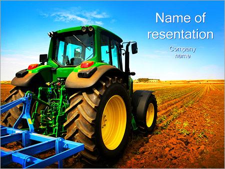 Tracteur dans le champ Modèles des présentations  PowerPoint
