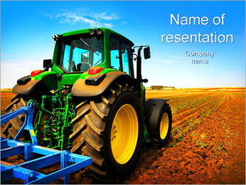 Tractor in Field PowerPoint Template