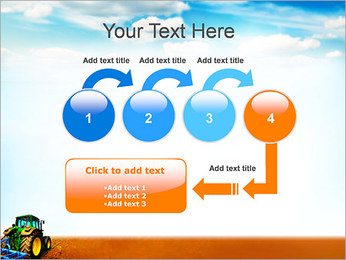Tracteur dans le champ Modèles des présentations  PowerPoint - Diapositives 4