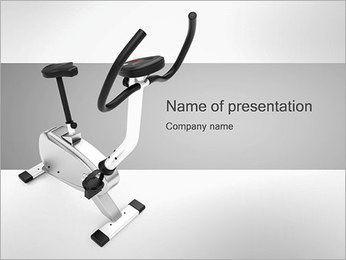 Stationary Bike PowerPoint Template